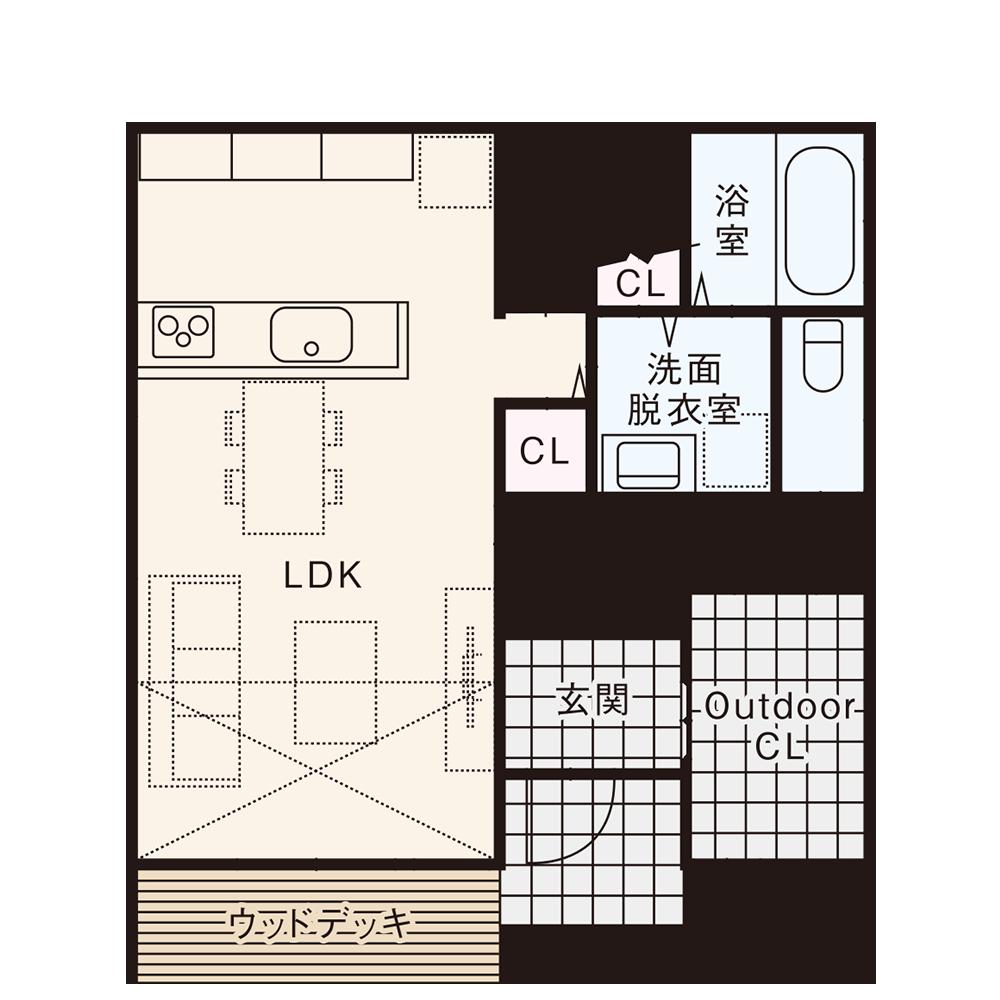 南入りプラン / 1st.Floor plan