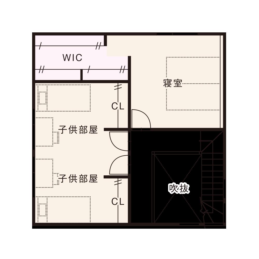 東西入りプラン / 2nd.Floor plan
