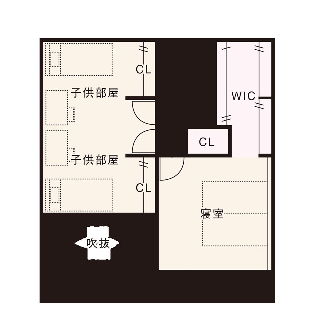 北入りプラン / 2nd.Floor plan