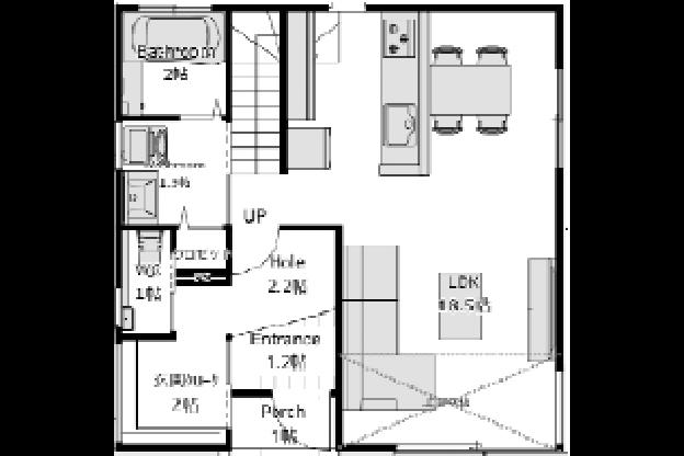 東西入りプラン / 1st.Floor plan