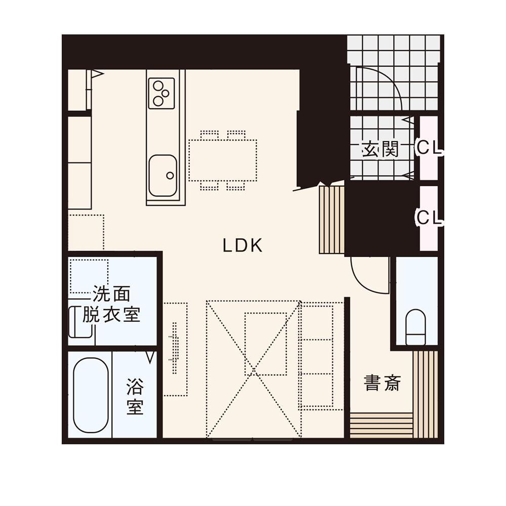 北入りプラン / 1st.Floor plan